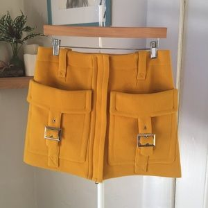 Sonia by Sonia Rykiel yellow wool mini skirt S